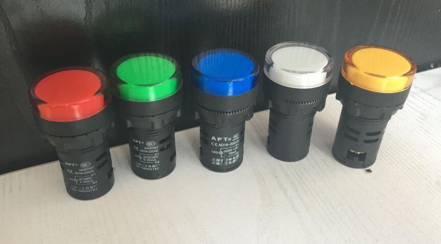 10pcs AD16-22D/S LED Power Indicator 22mm AC110V Signal Light Pilot Lamp