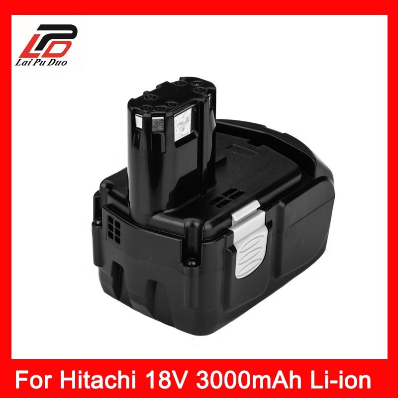 Power Tool Batterie Rechargeable Li-ion Batteria 18 V 3000 Batterie pour HITACHI BCL1830 EBM1830 C18DL C18DLP4 C18DLX C6DC