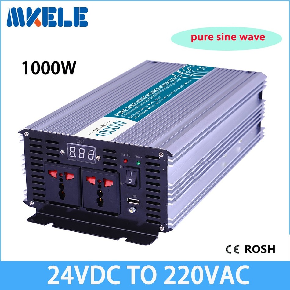 цена на MKP1000-242 pure sine wave inverter 1000w 24v 220v inverter off grid voltage converter,solar inverter LED Display full power