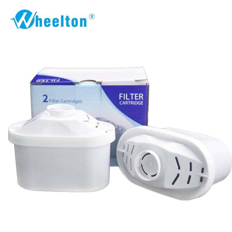 Agua Filtro de uso general activar carbono filtros reemplazo para filtro de cartucho jarra de agua 2/lot envío libre