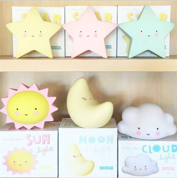 INS Hot Children Luminous Toy Macaron Led Lamp Creative Moon Star Sun Night light Toys Gifts For Children's Bedthroom Decoration