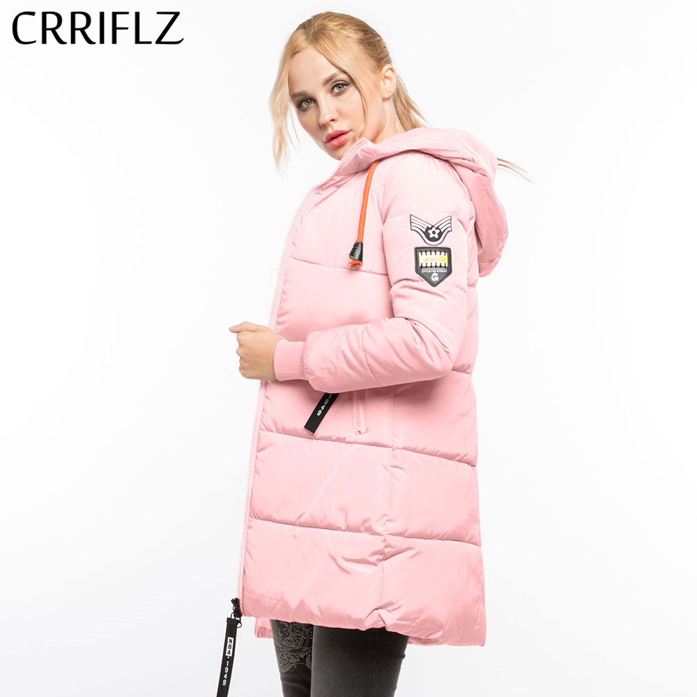 Causal Woman's   Basic     Jackets   Winter Wadded   Jacket   Women Parkas Hooded Long Coat Padded   Jackets   Coats CRRIFLZ Winter Collection