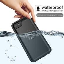 Dla Apple iPod touch 7 IP68 wodoodporna obudowa 360 stopień ochrony, odporny na upadki, odporna na wstrząsy nurkowanie powłoki do ipoda 5 6 obudowa podwodna