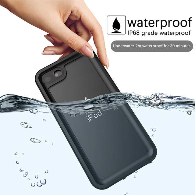 For Apple iPod Touch 7 IP68 Waterproof Case 360 Degree Protection Dropproof Shockproof Diving Shell for iPod 5 6 Case Underwater