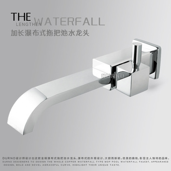 Copper used by all falls out of the water nozzle mouth water Mop sink faucet Quick opening mop pool extended the faucet