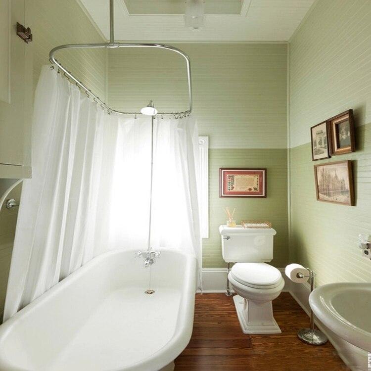 en acier inoxydable en forme de u rideau de douche tige de rideau de douche tige ovale baignoire courbe en forme rectangulaire baignoire tringle a