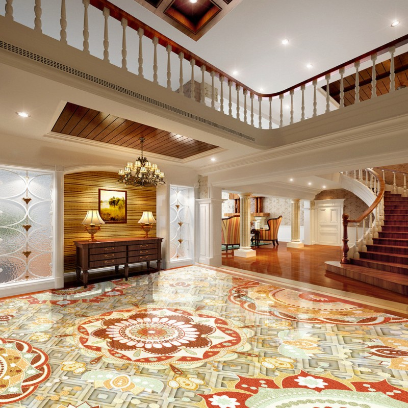 цены Free Shipping marble parquet 3D floor anti-skidding moisture-proof living room bathroom wallpaper conference mural