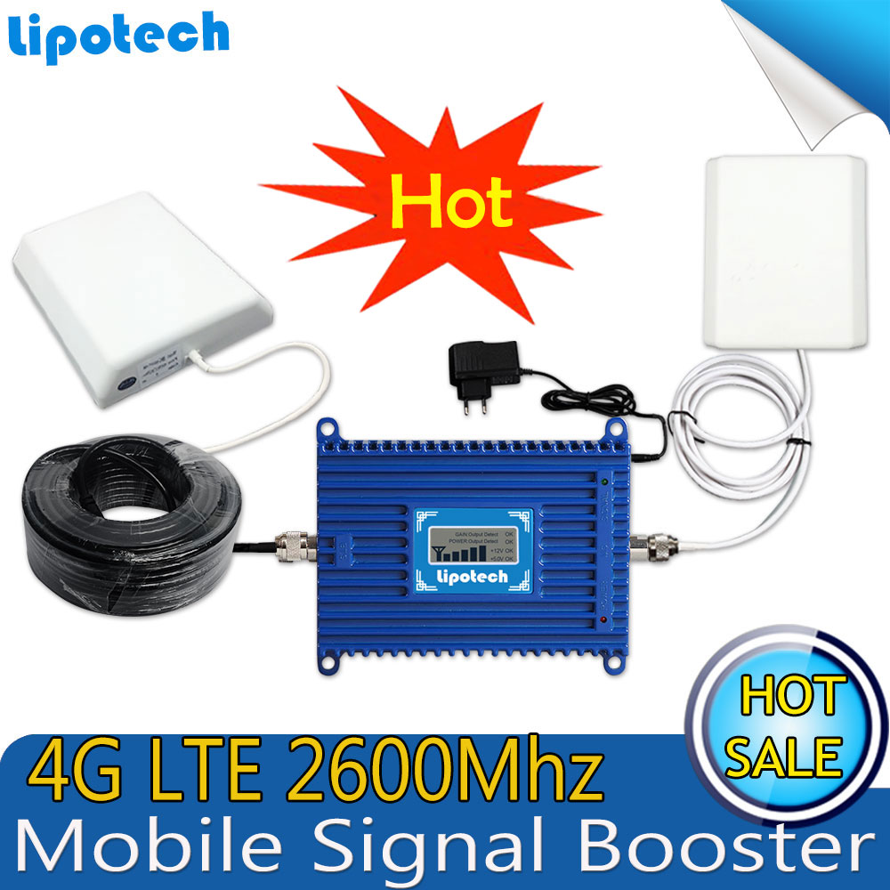 2018 Lintratek 4G LTE Signal Repeater Gain 70dB 4G LTE 2600Mhz Mobile Signal Booster 2600 lte