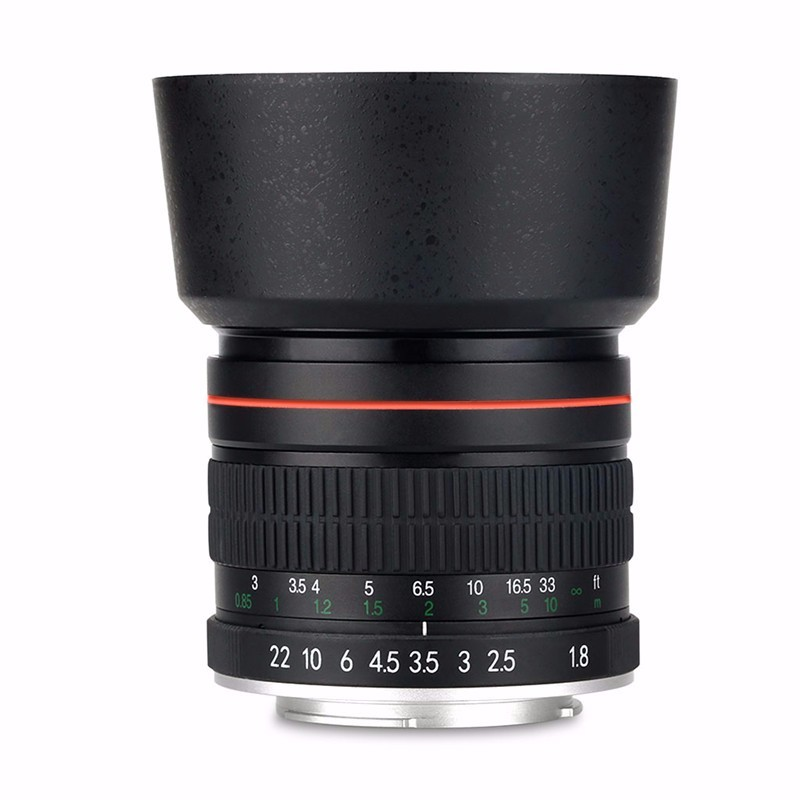 85mm F/1.8 Medium Telephoto Portrait Prime Manual Focus Camera Lens for Canon 10D 760D 700D 600D 70D 60D 7D 6D 5D II III DSLR 3
