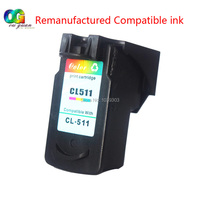 1 x Color ink Cartridge Compatible for Canon CL 511 for Canon MP270 MP280 MP480 MP490 MX350 MP240 iP2700 MP282 MP495 MP499