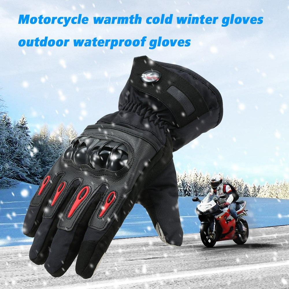 Pro biker Winter Motorcycle Gloves Moto Warm Waterproof