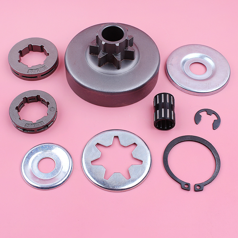 Clutch Sprocket Drum Rim Washer Bearing Repair Kit For Stihl 038 MS380 MS381 Chainsaw Replace Spare Tool Part