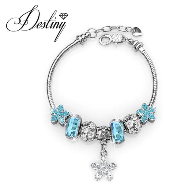 Destiny Jewellery Embellished with crystals from Swarovski bracelet  Enchanted Flower Charm DB0092 7df066072ee5
