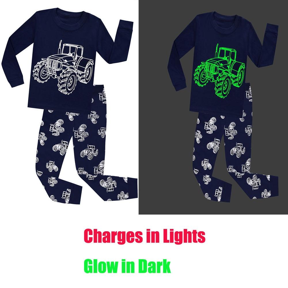Detail Feedback Questions about Fashion Children Full Sleeve Glow in Dark  Navy Truck Pajamas Boys Pyjamas Kids Pijamas Baby Glow in the Dark Pajamas  Sets on ... f694bc99a