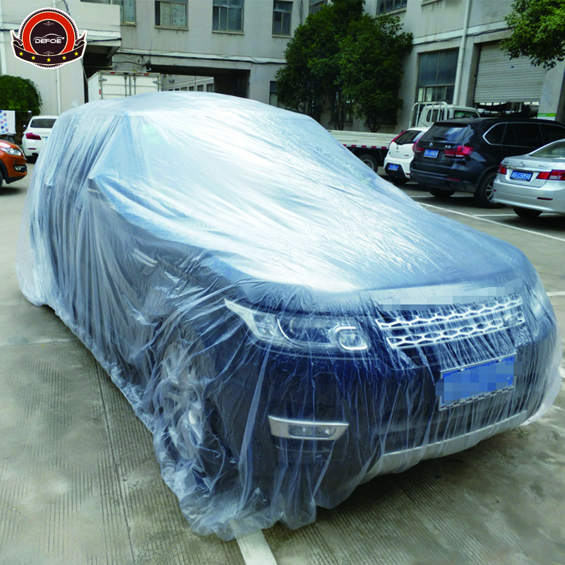 cheap price disposible car covers PE material big size 7.5meter longer Transparent color cover suv free shipping