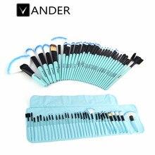 32 Pc Pro Makeup Brush Set Synthetic Professional Makeup Brushes Foundation Powder Blush Eyeliner Brushes Make-up Pinsel Set Bag