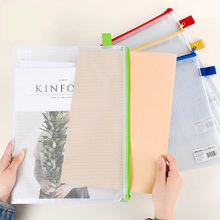 Office Storage-Bag File-Holder Transparent A6/document-File Notebook Sheet Zipper School