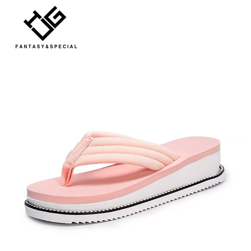 IGU Cozy Shoes Women Slippers Fashion Outside Flat Slides Women Slippers Flip Flops Summer Beach Ladies Wedge Platform Sandals
