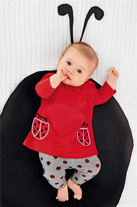 Autumn Winter Baby Clothes Suit Cotton Red Long Sleeve Tops+Pants 2pcs Newborn Baby Clothing Set Toddler Outfits