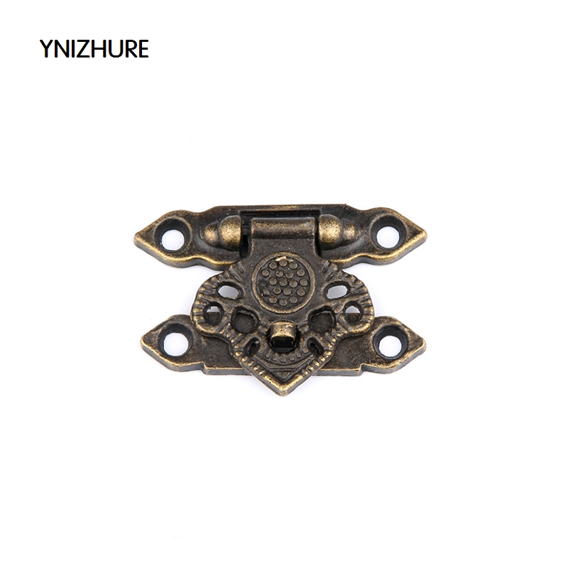50pcs 25*36mm Real Sale Latch Packaging Metal Buckle Decorated Wooden Wine Box Lock Furniture Hardware Door Gift Suitcase