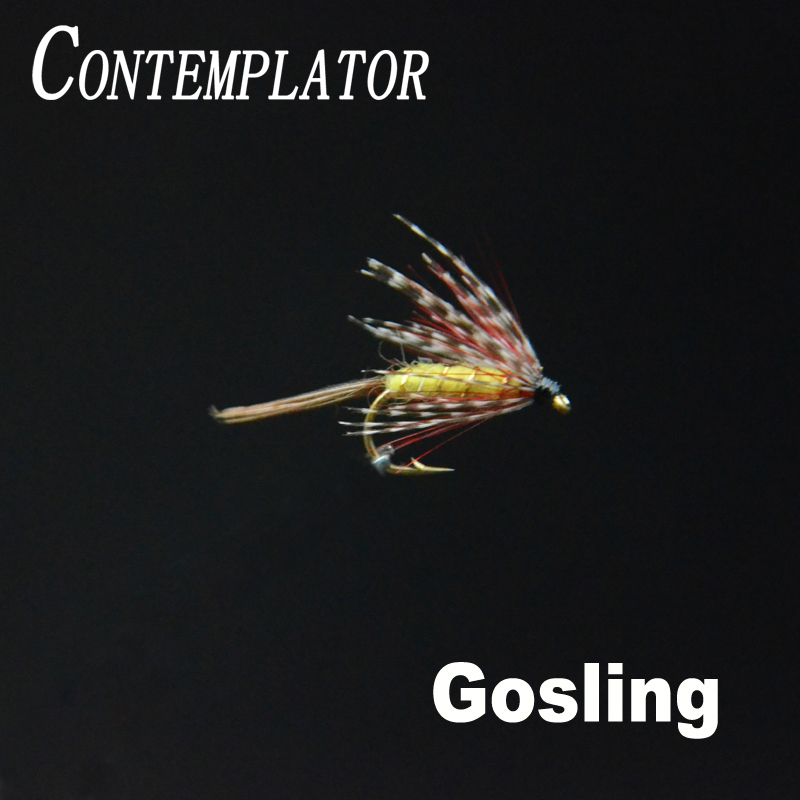 CONTEMPLATOR hot 5pcs/box 10# Gosling trout hatching mayfly fly wet lures long hackles fascinating artificial Fly fishing flies