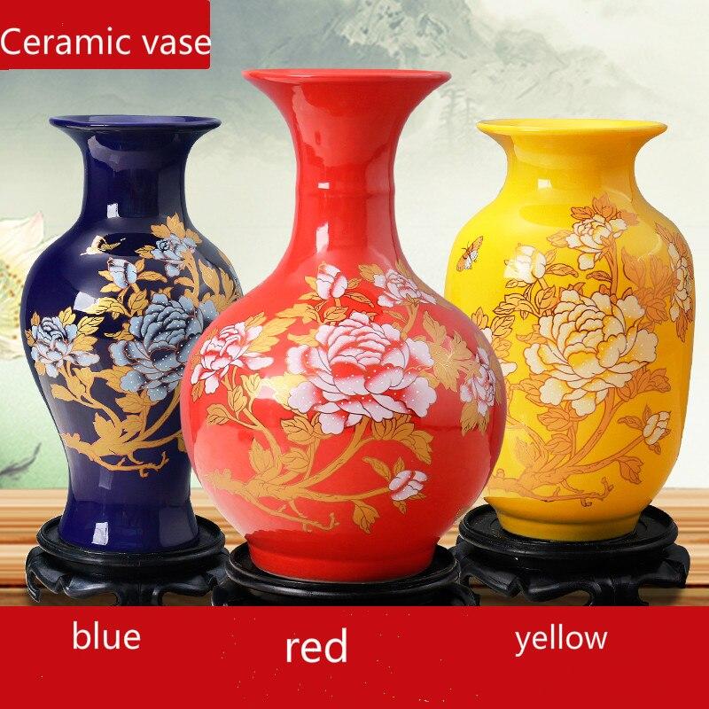 Цзиндэчжэнь керамическая ваза домашнее расположение Цветочная композиция гостиная украшения ремесла композиция G $