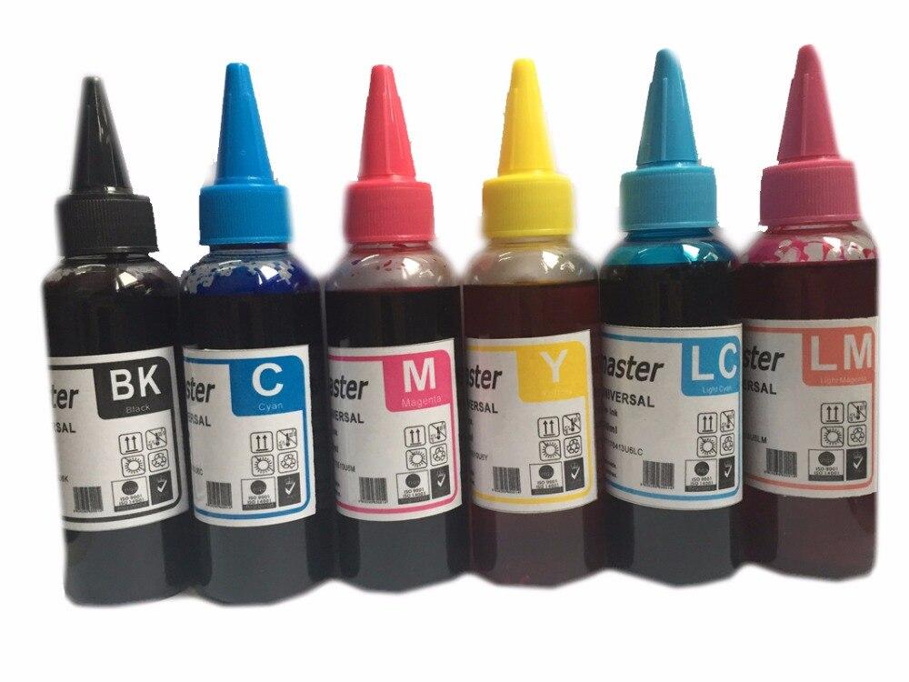Einkshop 600ML T0801-T806 Recharge Encre À Colorant Pour Epson Stylus Photo P50 PX650 PX700 PX800 PX710 PX810 PX820 R360 RX560 RX585 RX685