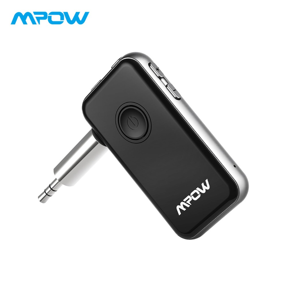 Mpow 2-in-1 Bluetooth Receiver Transmitter Mini Bluetooth Adapter With Mic Hands-Free Bluetooth AUX Adapter For Car Audio System bc07 vehicle bluetooth audio receiver hands free adapter black