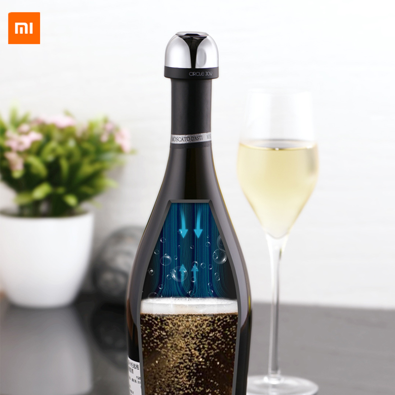 New Xiaomi Mijia Youpin Circle Joy Mini Champagne Stopper Sparkling Wine ABS Material Mini Stopper Keep It Freshness