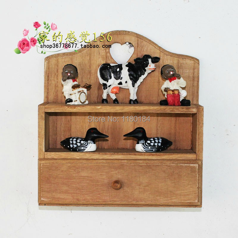 For zakka vintage storage cabinet drawer miscellaneously storage holder  racks 21x8x22.5cm free shipping(