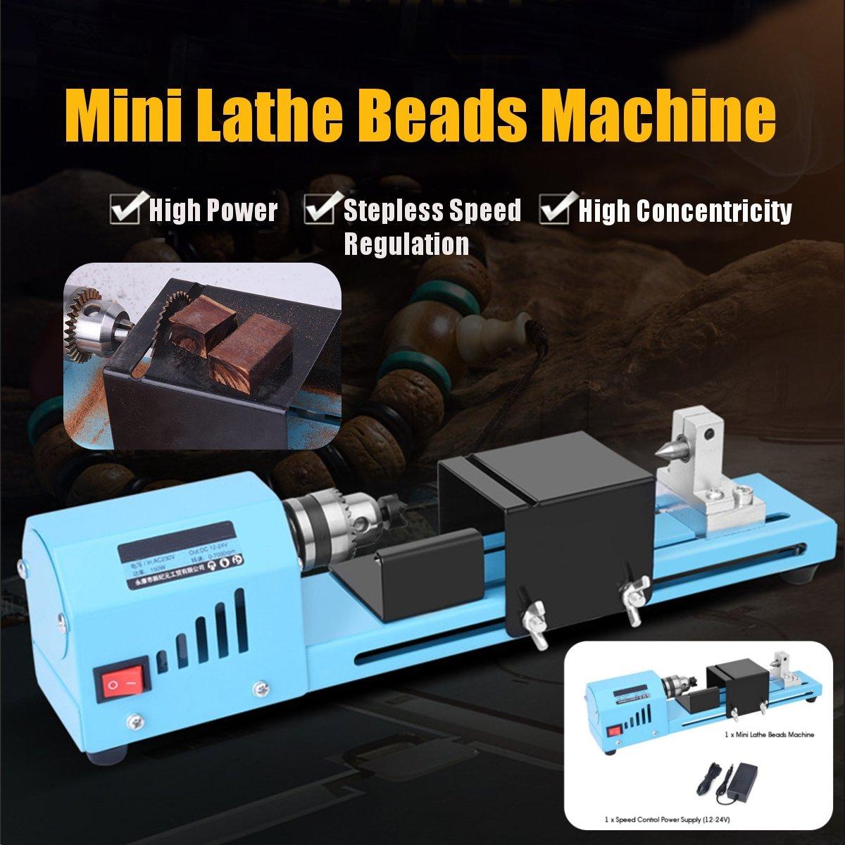 150W Mini tour Machine outil bricolage travail du bois tour fraiseuse meulage perles de polissage perceuse outil rotatif
