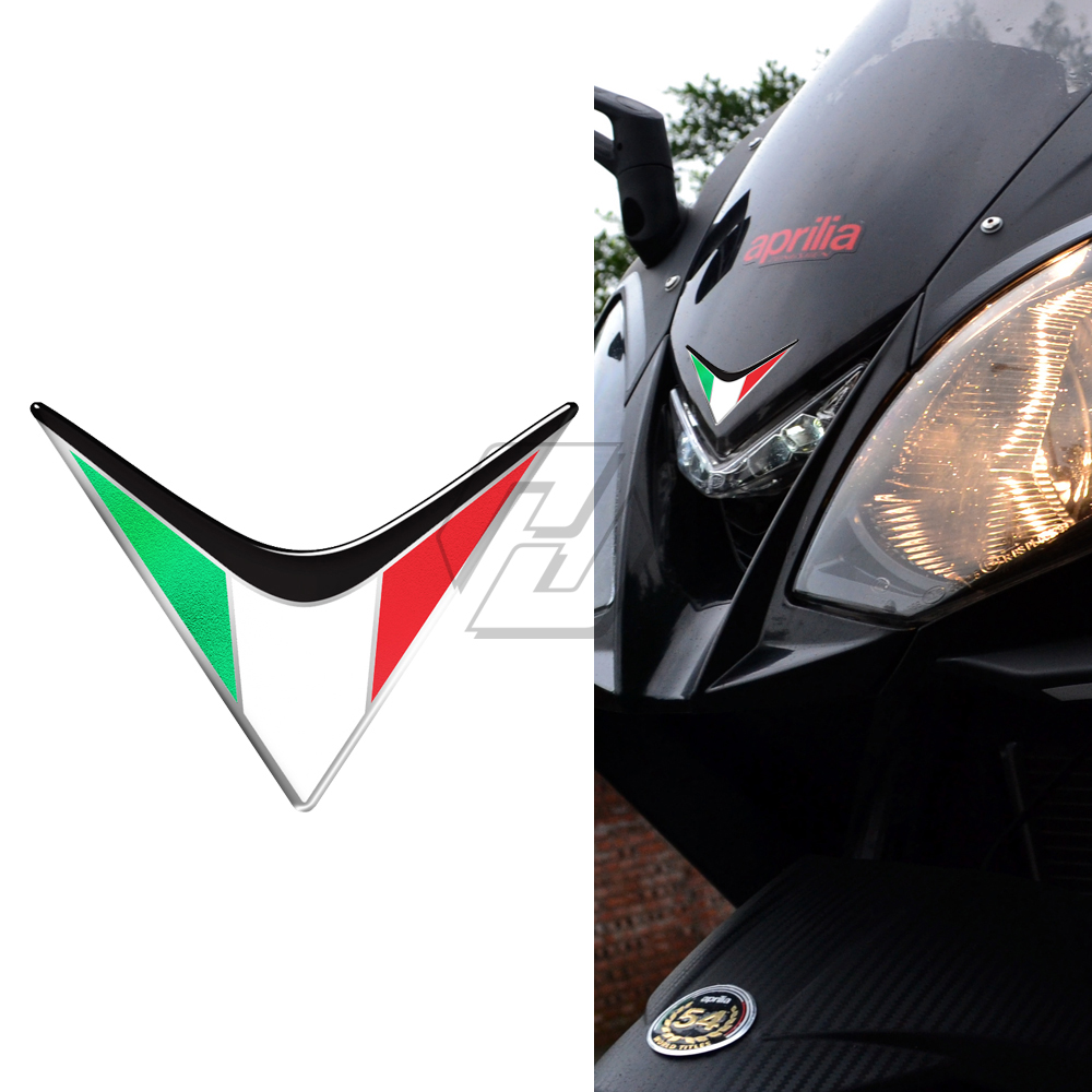 3D Resin Motorcycle Front Fairing Decals Italy Sticker Case For Aprilia RS4 RSV4 RS APR150 SR MOTARD Tuono V4 Ducati