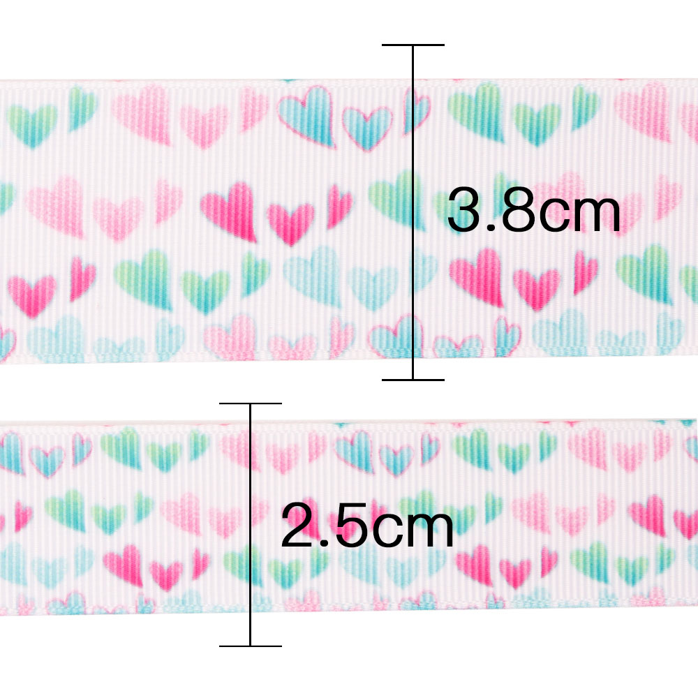 JOJO BOWS 25 38mm 5y Grosgrain Ribbon Love On White Printed Tape For Needlework Apparel Sewing Home Textile Wedding Decoration in Ribbons from Home Garden