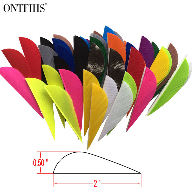 "100 Pcs New 2""Parabolic Natural Turkey Feathers 2 inch Water Drop Archery Fletches Feather Arrow Fletching For Hunting shooting"