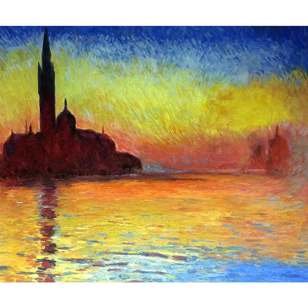 Large size Monet wall landscape oil painting on canvas San Giorgio ...