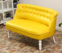 Мягкая Современные диван на двоих из искусственной кожи для Гостиная или детской комнаты мебель Честерфилд 2 местный диван