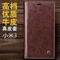 For Xiaomi Mi3 Mi 3 MiUi M3 Original QIALINO Brand Real Natural Cow Skin Genuine Leather