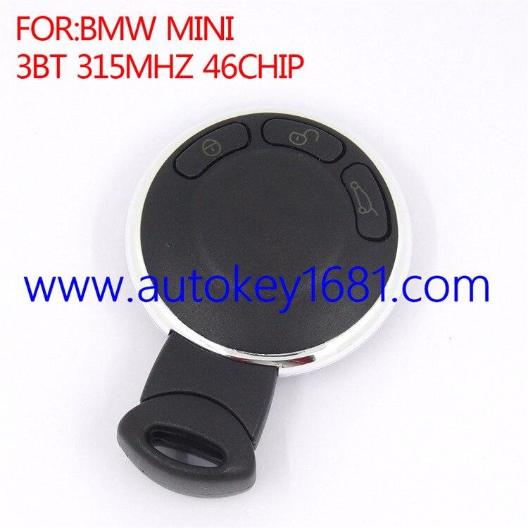 Télécommande carte à puce clé de voiture pour BMW Mini Cooper 3 boutons 315 MHz ID46 puce du transpondeur