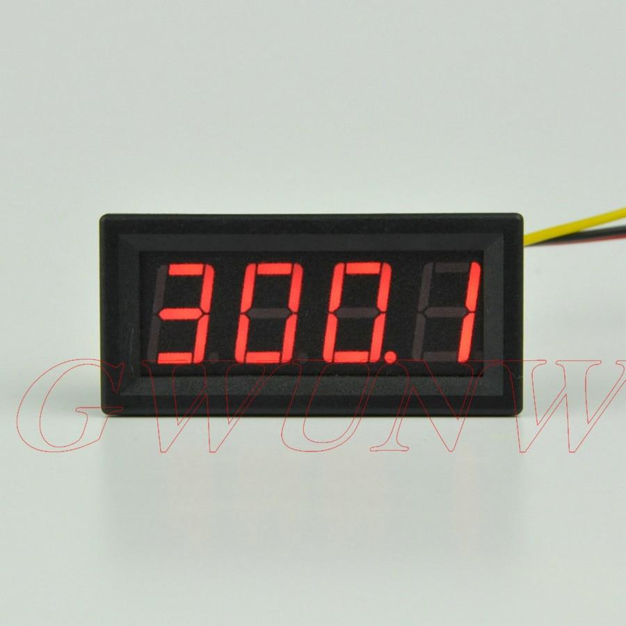 GWUNW BY456V  DC 0-300.0V (300V) 4 Bit  Digital Voltmeter  Panel Meter  Red Blue Green 0.56 Inch Voltage Tester Meter
