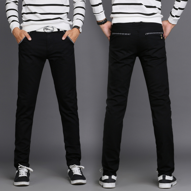 cbc8e3bb407ce 2017 New Design Casual Men pants joggers Cotton Slim Pant Straight Trousers  Fashion Business Solid Khaki Pants Men Plus Size 38