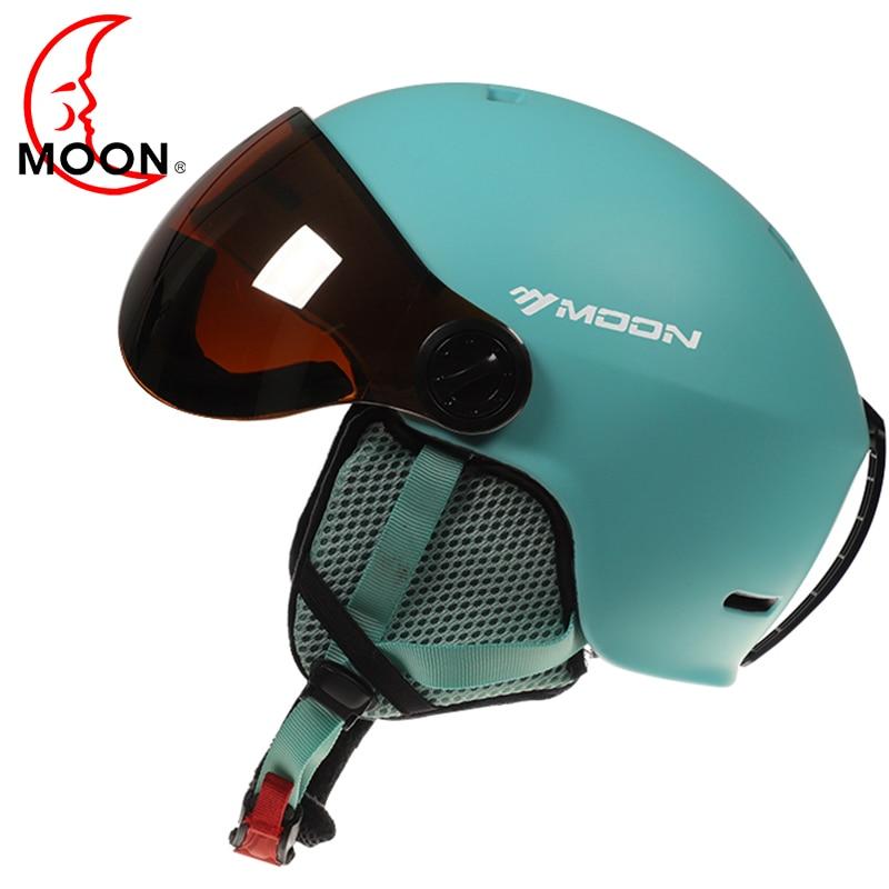 cd6604a389096 Óculos de Esqui LUA Capacete Integralmente-Moldado PC + EPS Multicolor Capacete  De Esqui Outdoor