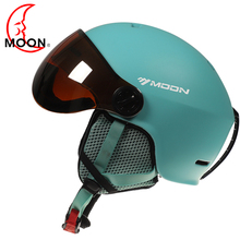 MOON Goggles Skiing Helmet Integrally-Molded PC+EPS Multicolor Ski Helmet Outdoor Sports Ski Snowboard Skateboard Helmets купить недорого в Москве