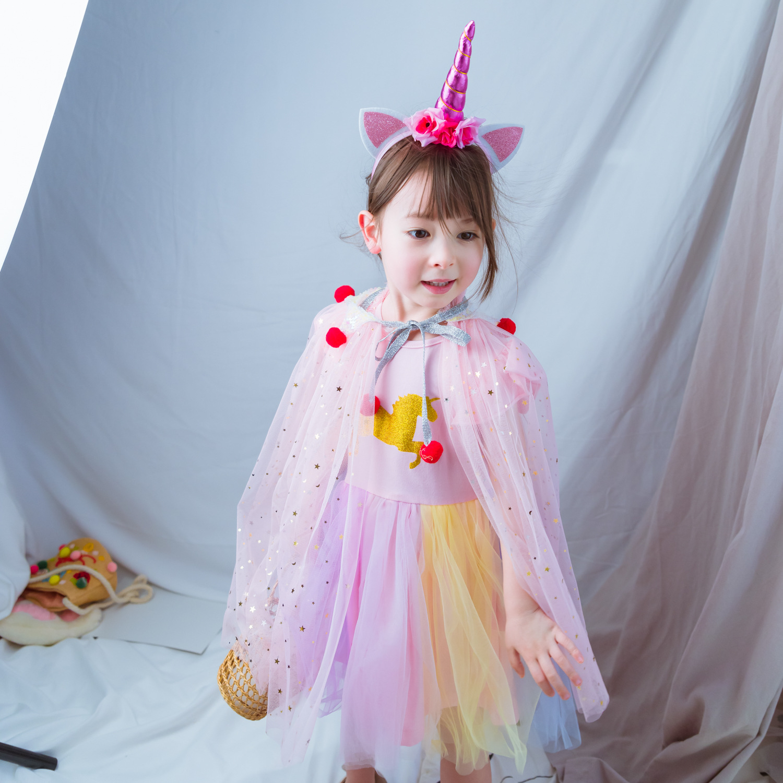 festa de aniversário praia arco-íris envoltório princesa traje