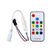 DC5-24V Pixel led Strip Controller with Mini-RF wireless remote for led digital RGB strip WS2811/WS2812B/WS2812 to 2048pixels цены онлайн