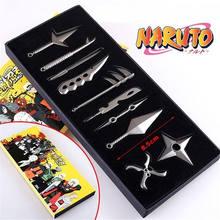Naruto: Set of 10pcs/set Akatsuki Weapons Key Blade Key Chain