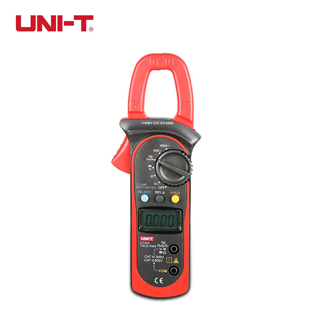 UNI-T UT204A digital clamp meter multimeters auto range temperature AC DC current clamp meter ammeter voltmeter unit 204A
