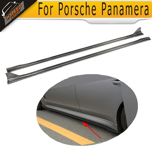 Carbon Fiber  Side Bumper Skirts Side skirts Extension Car Styling for Porsche Panamera 2010 - 2013 JC Style