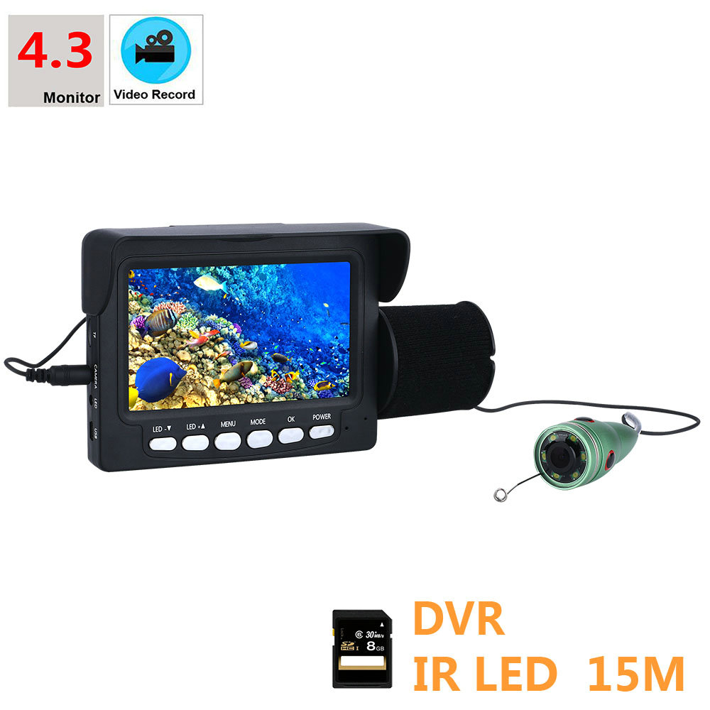 720P Underwater Fishing Camera 15M 1000TVL 4.3