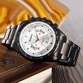 WOONUN Топ Известный Бренд Класса Люкс Спортивные Часы Мужчины Водонепроницаемый Противоударный Черный Полный Стали Кварцевые Часы Мужские Часы F1 Car Design