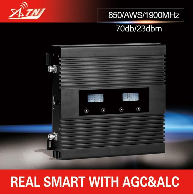 Tri-band 2 Г 3 Г 4 Г ретранслятор сотового сигнала GSM850/PCS1900/AWS 1700 МГц мобильный усилитель сигнала усилитель только усилитель и адаптер